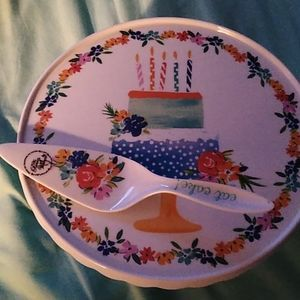 Pioneer Woman cake stand & server